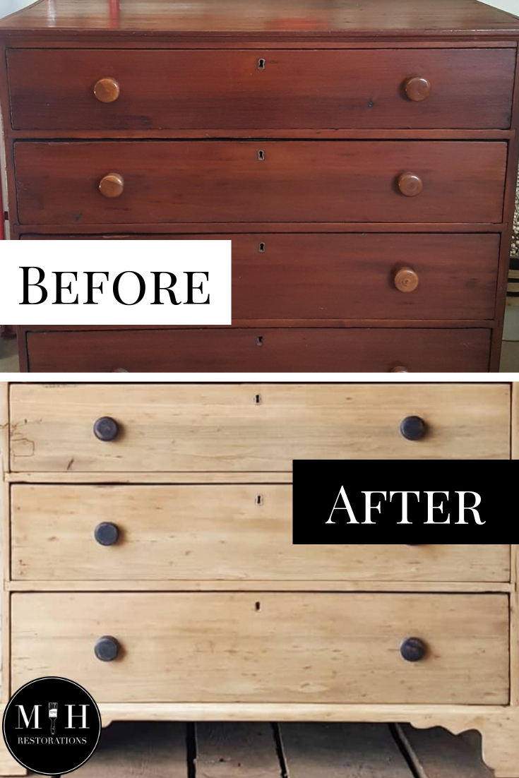 How To Get This Look Raw Dresser Makeover Raw Wood Furniture Wood Furniture Diy Cherry Wood Furniture