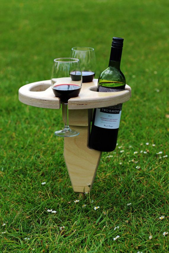 Camping Wine Table Gl Holder Folding By Opwoodcraft1