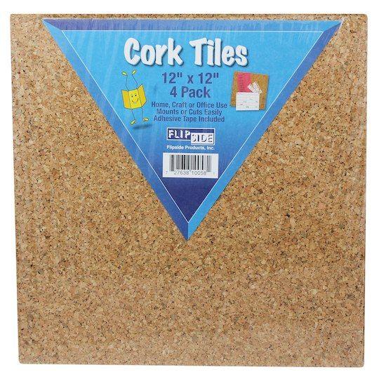 Cork Tiles 12 X 12 Set Of 4 Cork Tiles Cork Wall Tiles Cork Wall