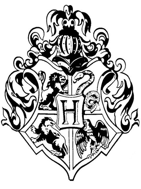 Gryffindor Seal Coloring Page