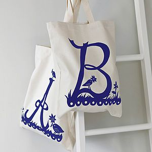 Rob Ryan For Alphabet Bags Initial Tote Bag - gifts for her