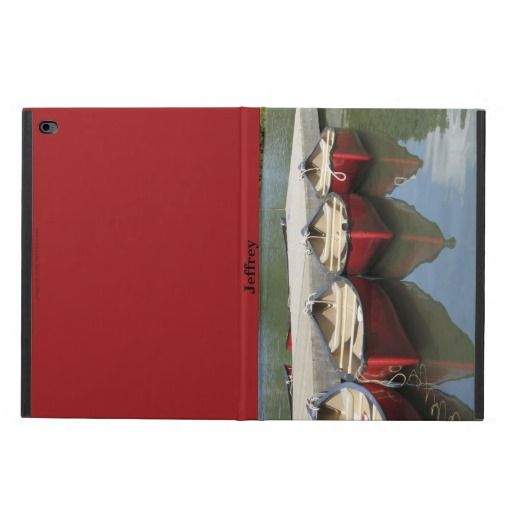 iPad Air 2 Case, Red Canoes Powis iPad Air 2 Case - This iPad Air 2 case is wonderful for someone who love canoes or canoeing. Case is decorated with my original photograph of red canoes. Example text for name can be deleted, if desired. All Rights Reserved © 2013 Alan & Marcia Socolik