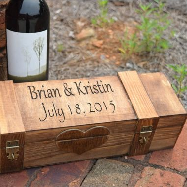This Wine Box makes for an awesome wedding ceremony time capsule and an even better gift!  For the parents, wedding party, and even to your signifcant other, this personalized box is the perfect gift for the wine person in your life!                                                                                                                                                     More