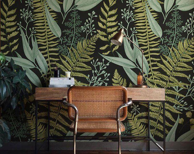 Botanical Wallpaper Ferns Wallpaper Wall Mural Green