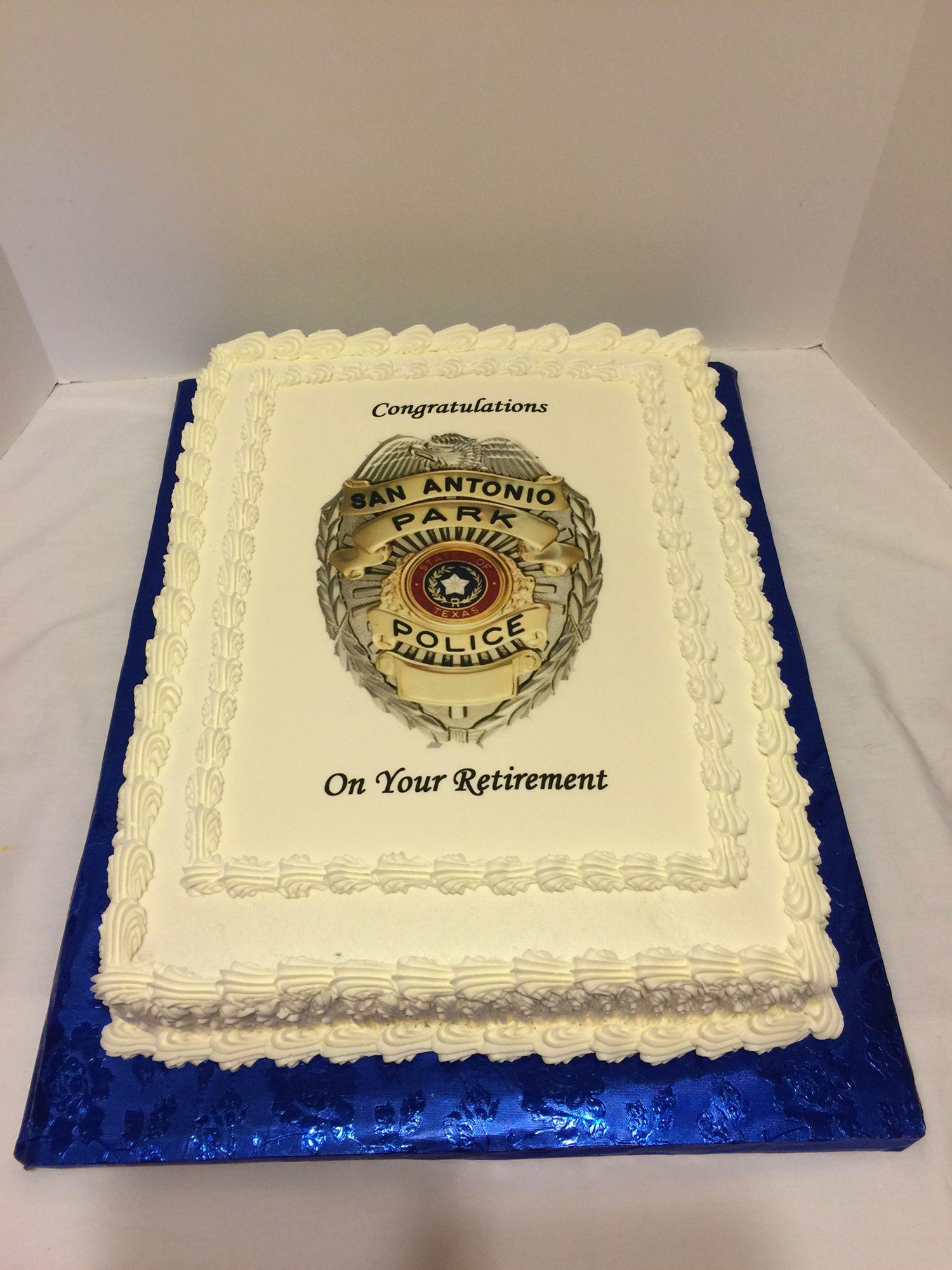 Police Retirement Cake Retirement Cakes Police Retirement