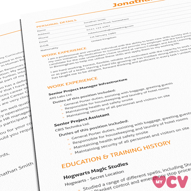 Cv Design Template  From Our Basic Range At Love My Cv We