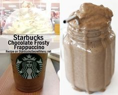 Starbucks Chocolate Frosty Frappuccino #chocolatefrosty Starbucks Chocolate Frosty Frappuccino #chocolatefrosty