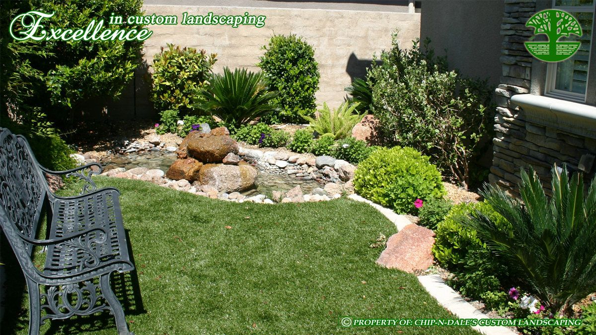 Synthetic turf landscape designs by chip n dale 39 s custom for Garden design las vegas