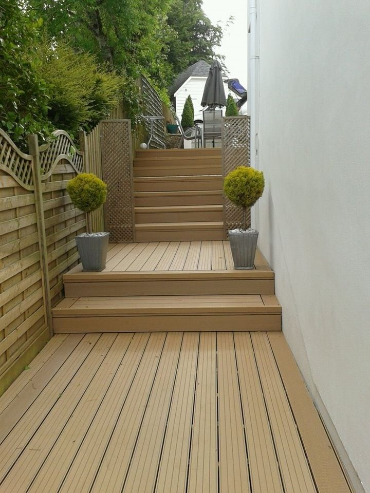 Cladco wpc decking boards in teak colour for Outdoor decking boards