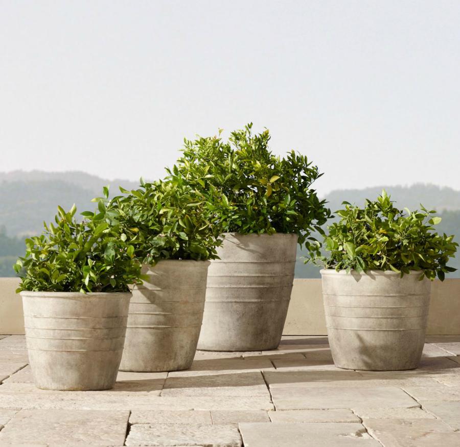 Adamo Cast Stone Planters By RH; $415u2013$920. Rh.com