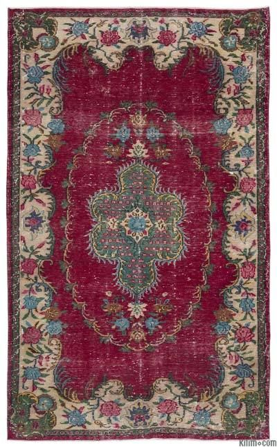 Turkish Vintage Rug Hand Woven In And Very Good Condition Piles Of This Were Trimmed Order To Give A Contemporary Look