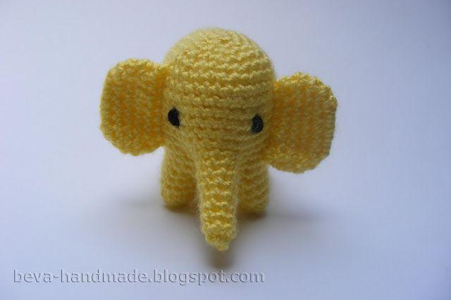 Amigurumi Patterns Elephant : Beva handmade mały słonik opis amigurumi