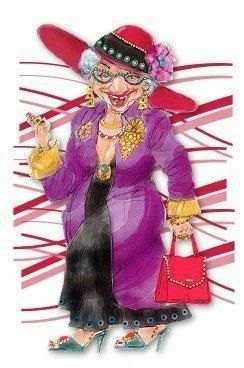Old Lady Photo: I will wear purple............