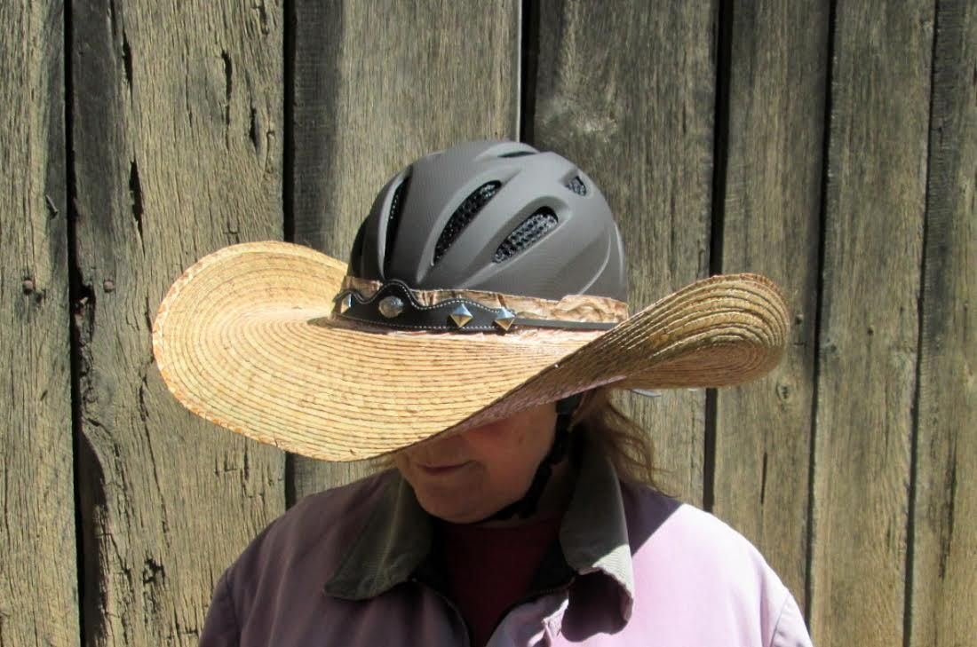 Another Great Idea A Hellhat Combining A Cowboy Hat With A Helmet And It Looks Good The Best Part You Can Make One Yourself Cowboy Hats Cowboy Hats