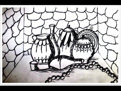 الدرس 2 تعلم الرسم أواني فخار Lesson 2 Learn Drawing Pottery Vess Hand Art Deathly Hallows Tattoo Triangle Tattoo