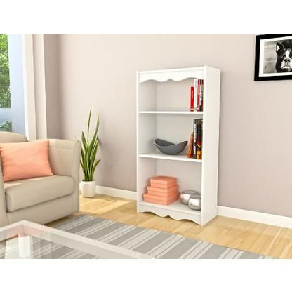 Sonax DROP SHIP Sonax Hawthorn 48-Inch Tall Bookcase, Frost White 1