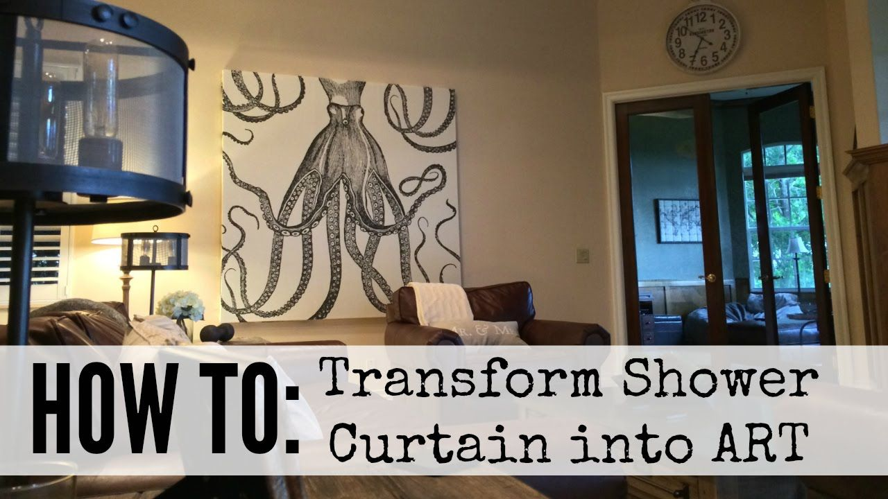 How To Create Shower Curtain Art Youtube Shower Curtain Art