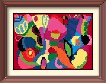 Abstract Artwork 1 Cross Stitch Pattern PDF Chart by ArtbyMariana