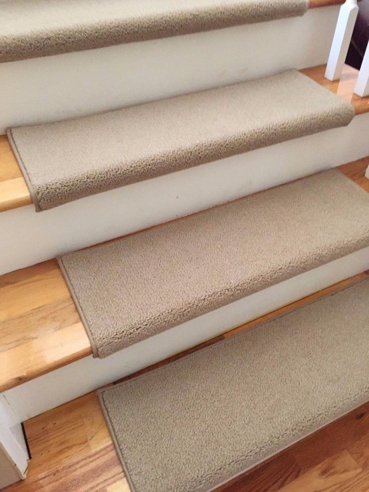 Best Legends Classic Khaki 100 New Zealand Wool True Bullnose™ Padded Carpet Stair Tread Runner 400 x 300