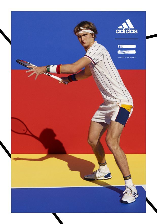 check out 7ae46 f3ea9 Adidas Tennis Collection by Pharrell Williams