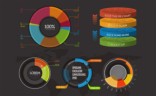 The world infographic elements template – Graphs and Charts Templates