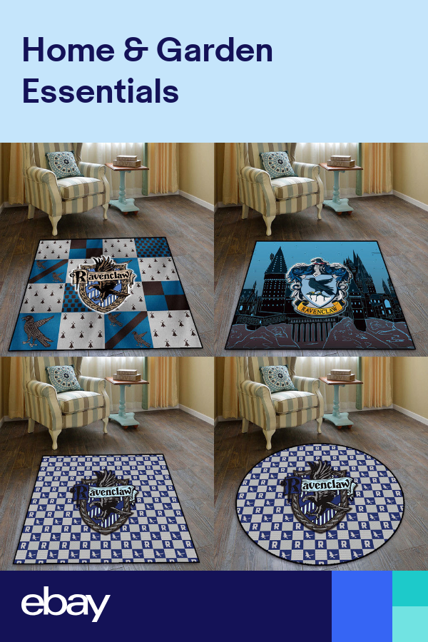 Harry Potter Ravenclaw Velboa Floor Rug Carpet Bedroom Home Non