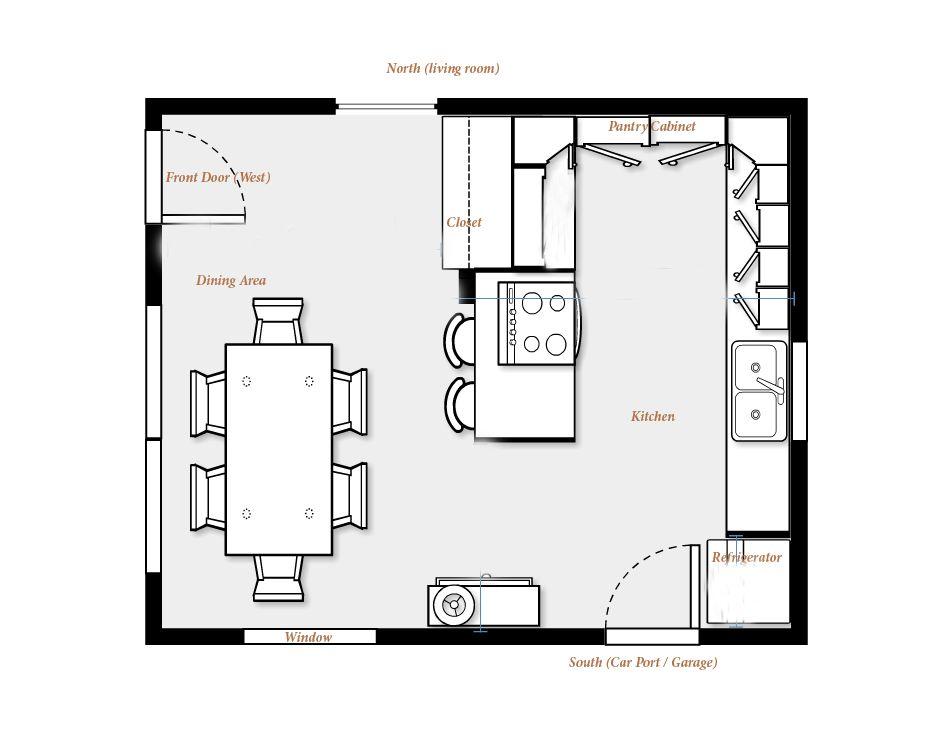 Kitchen Floor Plans Google Search Plan Cuisine Decoration Murale Cuisine Cuisine Moderne