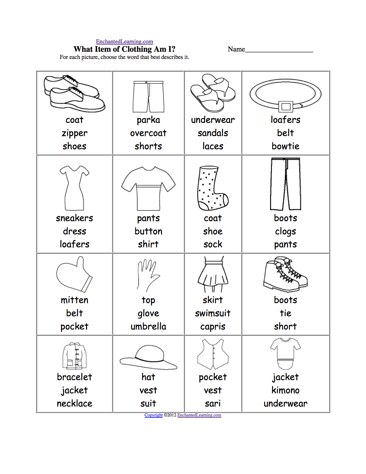english resources clothes for kids - Buscar con Google | ESL Group ...