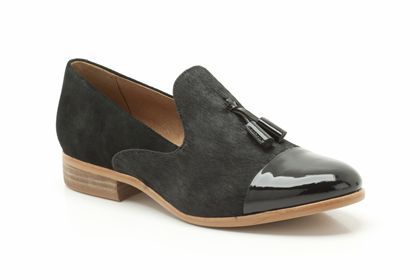 Womens Casual Shoes - Hotel Chic in Black Interest Leather from Clarks shoes