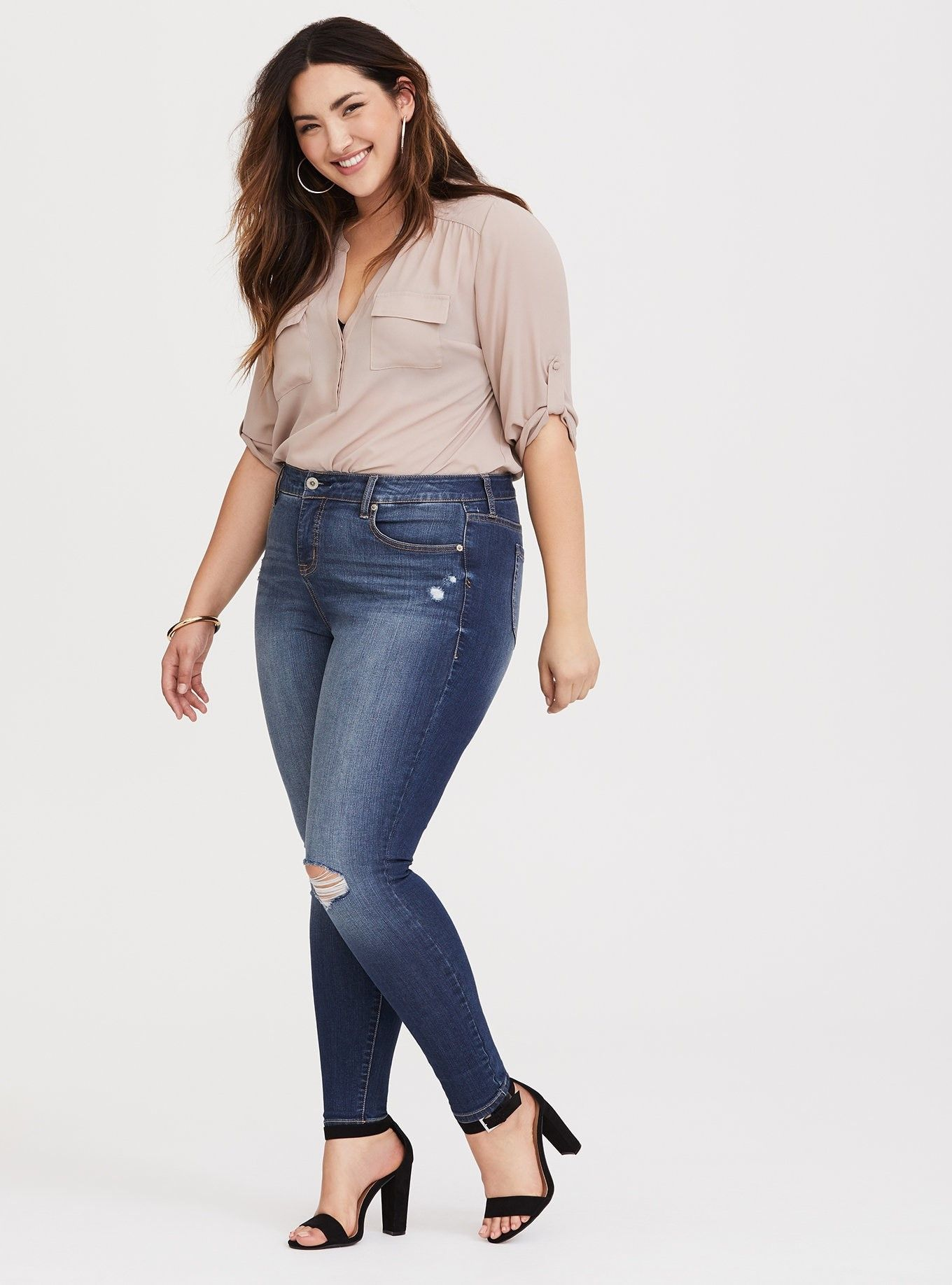 face28c898e Premium Stretch High Rise Curvy Skinny Jean - Medium Wash - The Curvy  Skinny jean accentuates