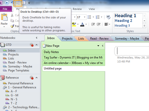 Gtd With Outlook 2010 And Onenote 2010 Collection Gtd System Gtd Getting Things Done