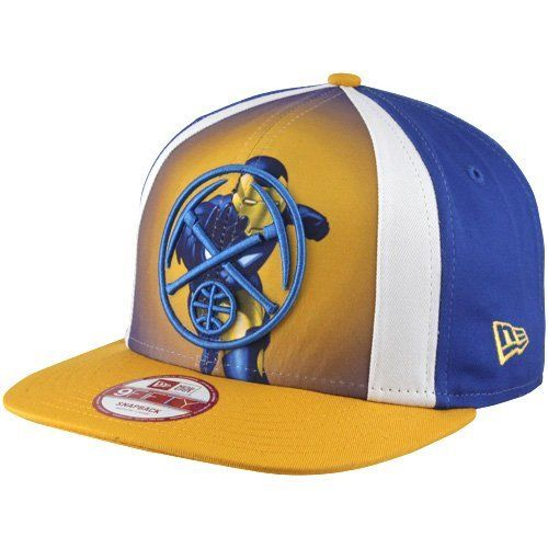super popular 77626 c8358 NBA New Era Denver Nuggets Marvel Hero 9FIFTY Snapback Hat - Royal  Blue Gold by
