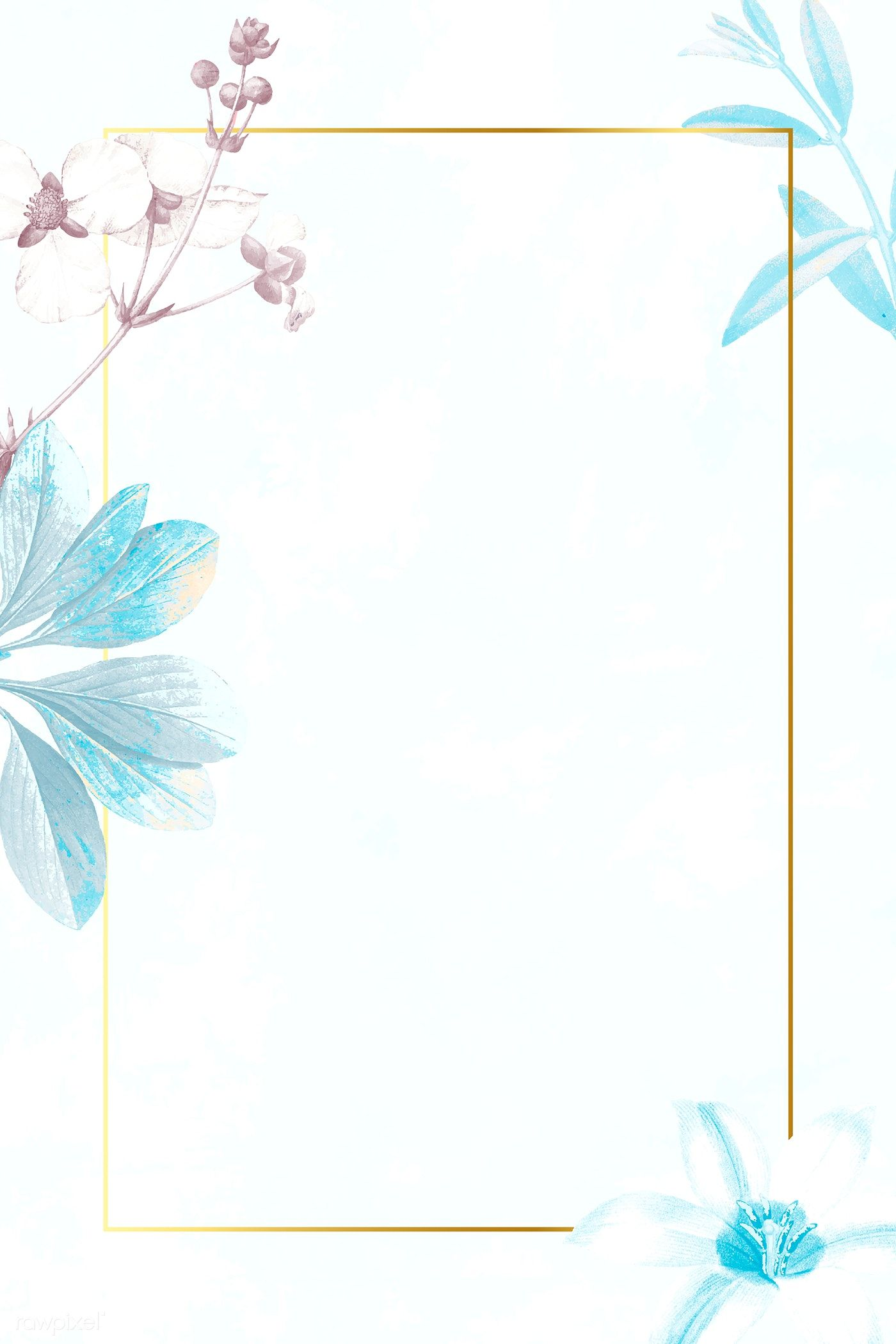 Download Premium Vector Of Golden Rectangle With Floral Frame Vector Floral Poster Flower Background Wallpaper Iphone Wallpaper Images