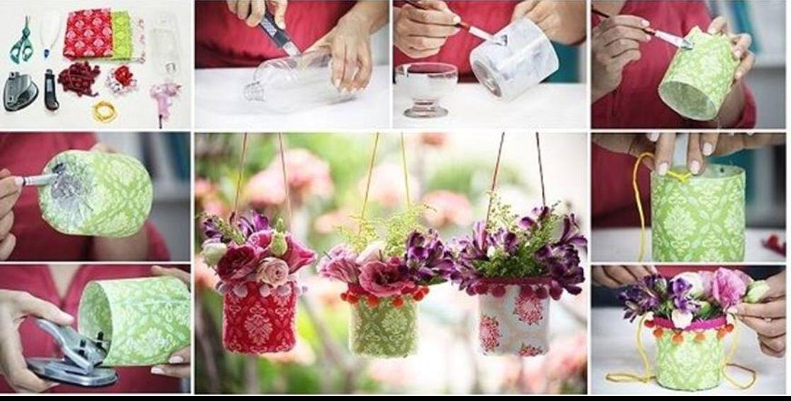 Goedkope en Leuke bloempotjes om buiten op te hangen