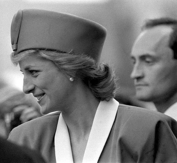 On Friday May 12th in 1989 Princess Diana attended Westminster Cathedral's Festival Of Flowers.