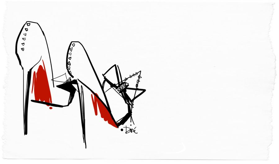 Garance Dore has the loveliest sketches.