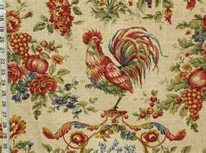 I chose this rooster toile for my curtain valance in the dining room.  When I received it I was not dissapointed.  It is really beautiful with very vibrant colors that compliment my kitchen tile.                    it is