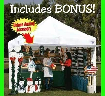 New Ez Up Canopy 10 X 10 Commercial Ezup Tent 4 Walls Ez Up Tent Craft Display Craft Show Ideas