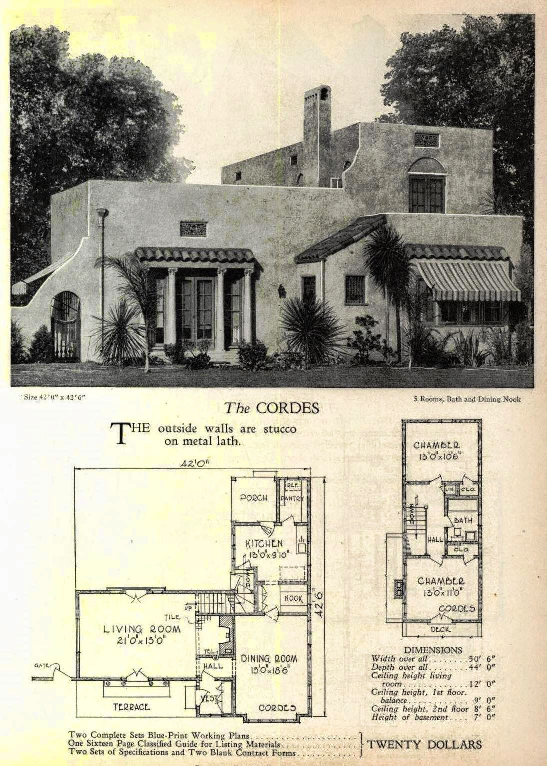 And Yes Even More Art Deco And Moderne House Plans Art Deco Resource Courtyard House Plans Spanish Style Homes Vintage House Plans