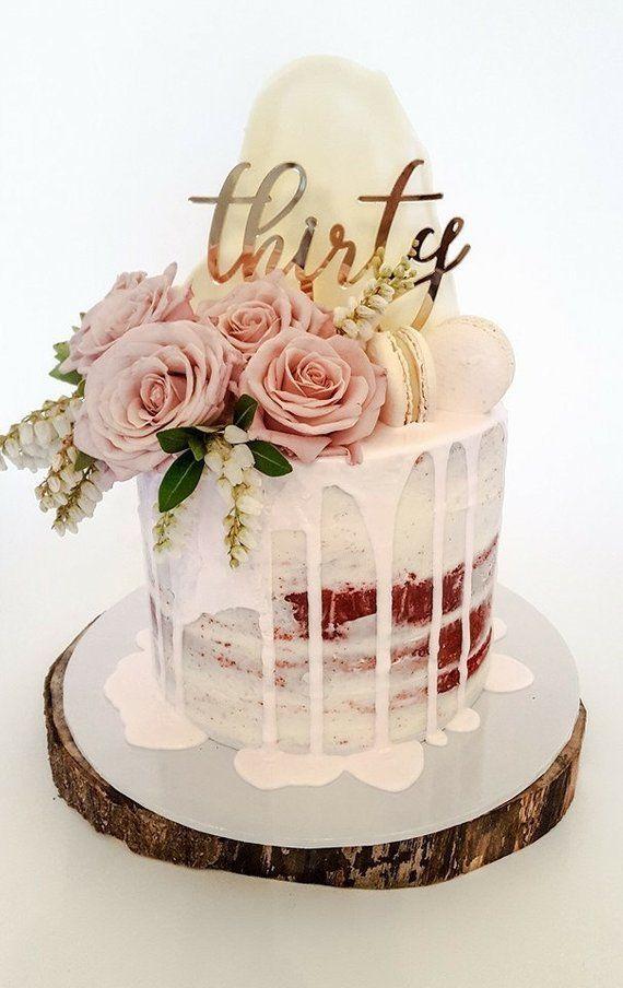 30. Geburtstag Cake Topper liest: dreißig #geburtstag #liest #topper
