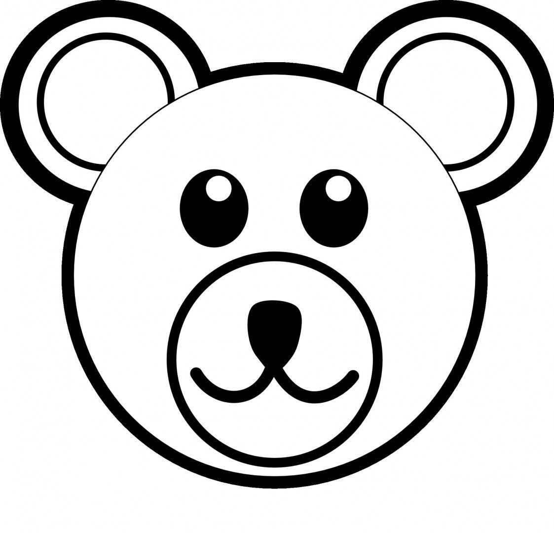Animal Faces Coloring Pages Easy Drawings Bear Coloring Pages