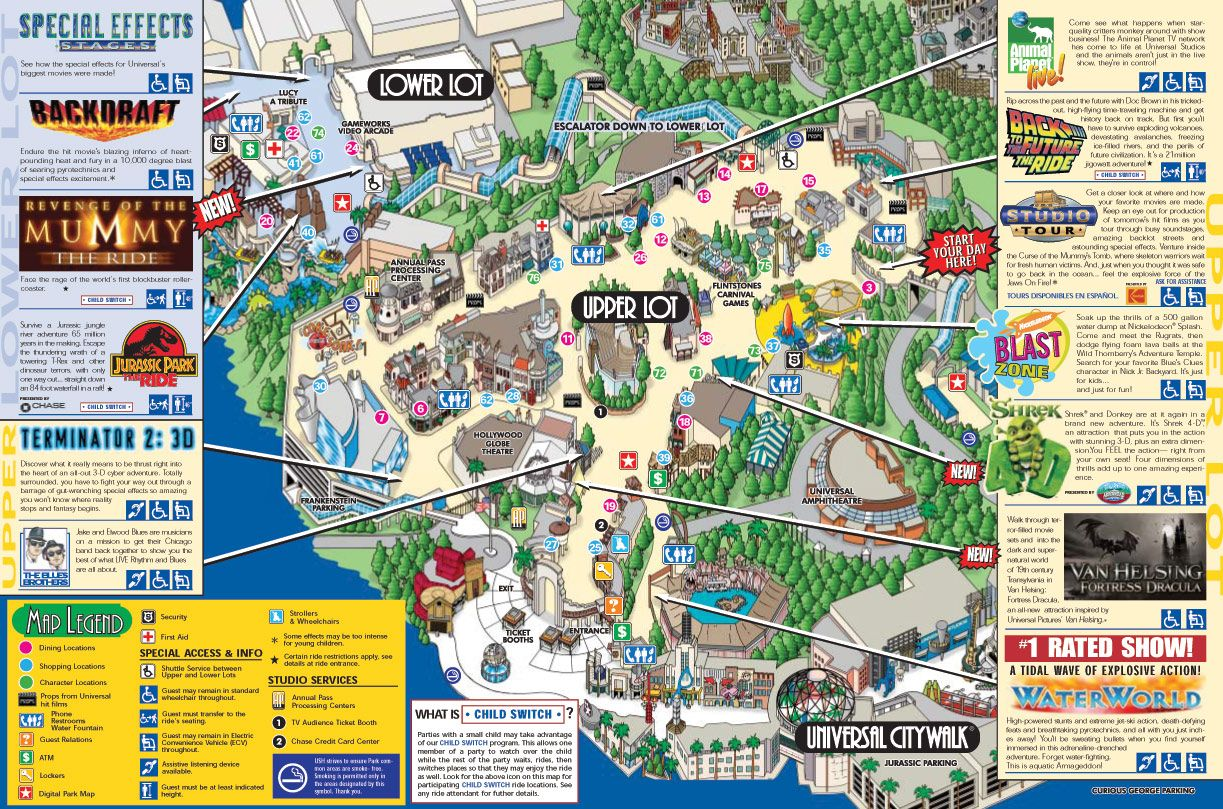 universal studios map Universal Studios Hollywood – Hollywood Tourist Map