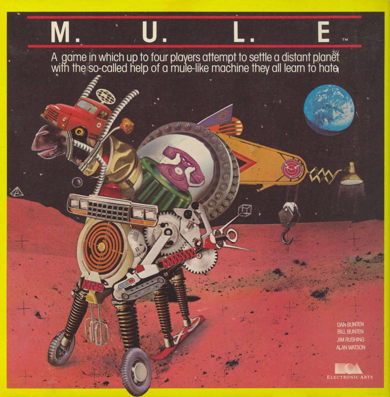 Mule by Ozark 1st Multiplayer Game C64/Atari * M.u.l.e
