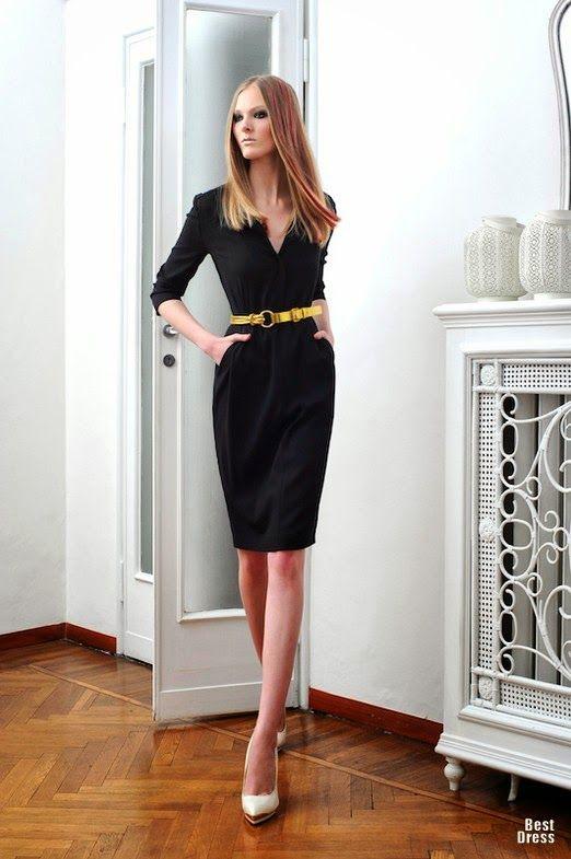 6b2a402e8 Fenomenales vestidos de oficina y vestidos formales   Moda en vestidos