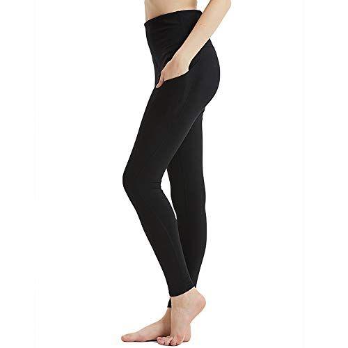 Hibbent Legging Femme Pantalon d Entraînement Course de Sport Yoga Fitness  Gym Pilates Taille Haute fc9c5e95fe1e