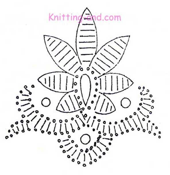 Free Embroidery Pattern: Fantasy Flower With French Knots