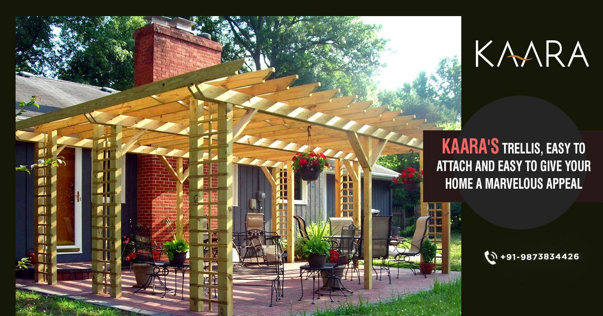 Install KAARA's Trellis on your outdoor and take the appeal of your home to the next level. With Trellis from KAARA admiration of your guests is guaranteed. To buy, call us at +91-9873834426 OR mail us your details at contact@kaaradecor.com  #Trellis #outdoordecor #cladding #Pargola #outdoorhomedecor #outdoordecordesign #Decking #HomeDecoration #claddingDesign #kaara #Kaaradecor