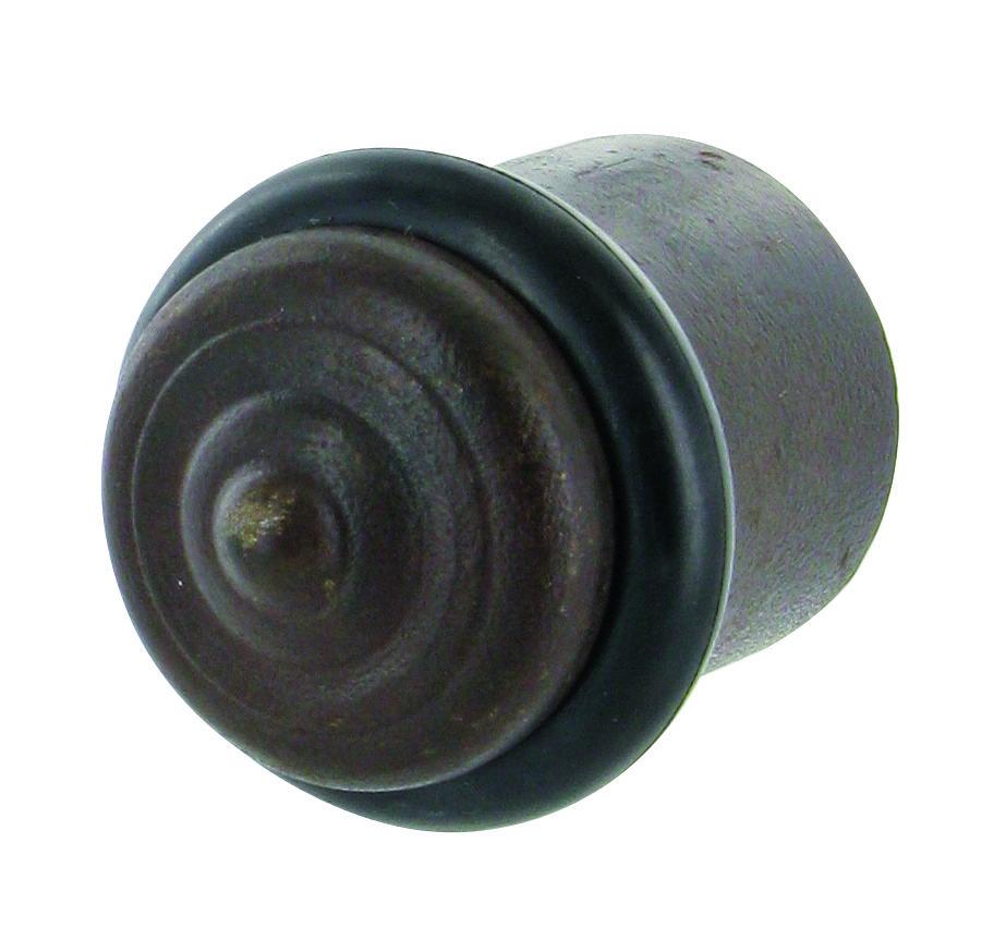 Butée de porte en fer rouillé, effet vieilli et ancien pour la porte