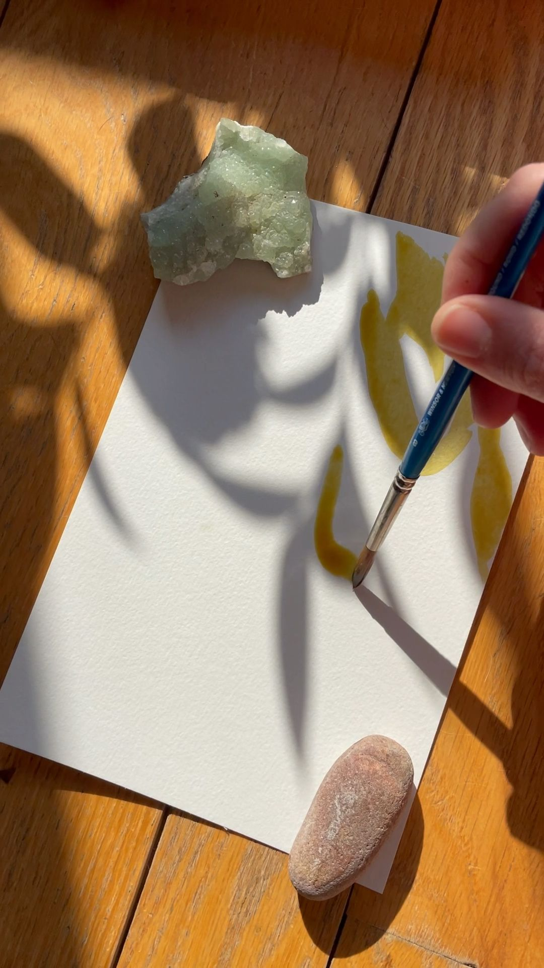 Shadow painting with wild ink