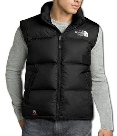 Hommes The North Face Nuptse Down Vest Noir Sortie